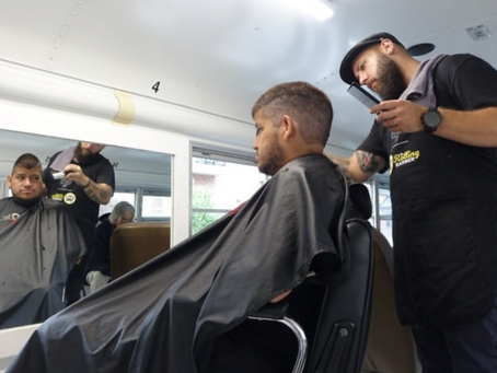 Rolling Barber proves the power of a haircut for the homeless