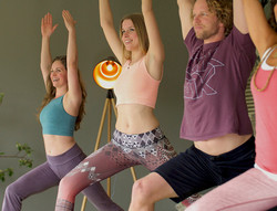 Am Our retreat yoga warrior