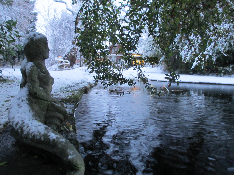 Zeeland sneeuw vijver