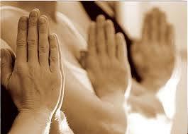 Namaste handen