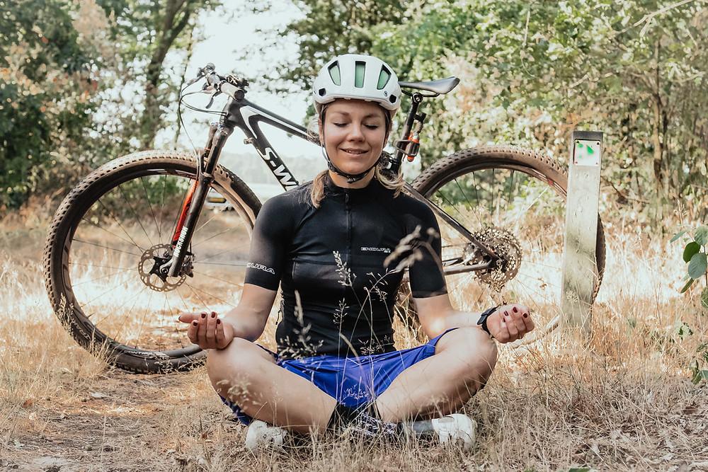 wielrennen en meditatie of yoga