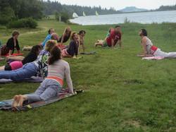 Ardeche meer yoga 2