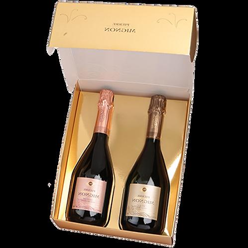 Pierre Mignon - 2 Brut Prestige Brut met giftbox