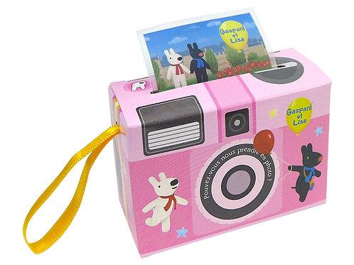 粉色相機盒造型貼紙 (麗卡)