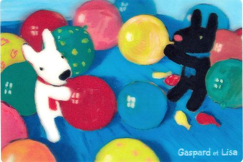 明信片-彩色球 (麗卡)