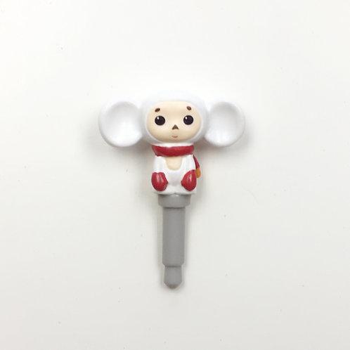 耳機塞-紅圍巾2 (查布)
