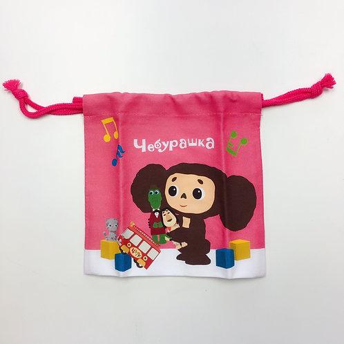 粉色束口袋 (查布)