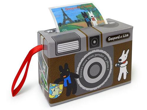 黑色相機盒造型貼紙 (麗卡)