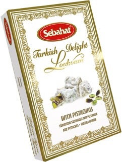 Sebahat Turkish Delight - Pistachios - Vegan approved