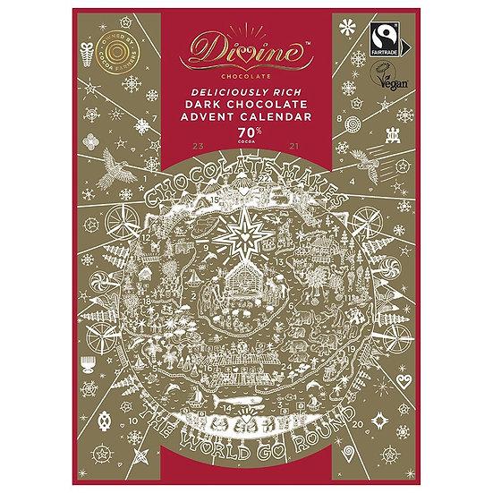 Divine Deliciously Rich Dark chocolate Advent Calendar - Vegan