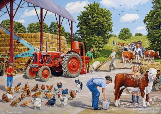 Gibson's Busy Farmyard (500)