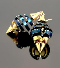 Blue prism earrings