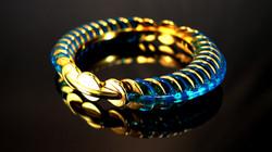 Blue prism bangle