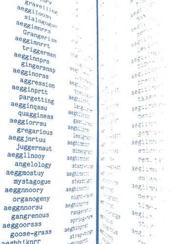 Anagrams, Silje Ree, 2020