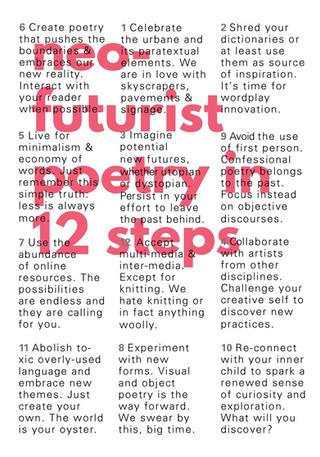 from 'The Neo-Futurist Poetry Manifesto', Astra Papachristodoulou, 2018