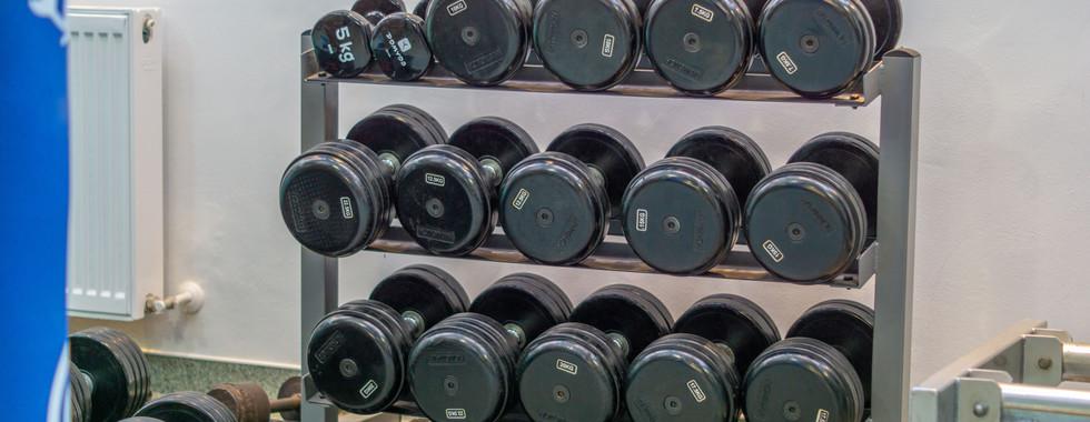 Sala fitness - greutăți