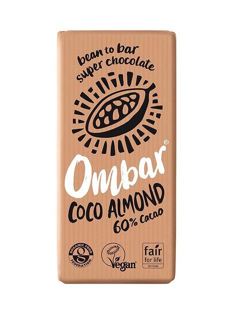 Ombar Coco Almond 70g, organic and vegan