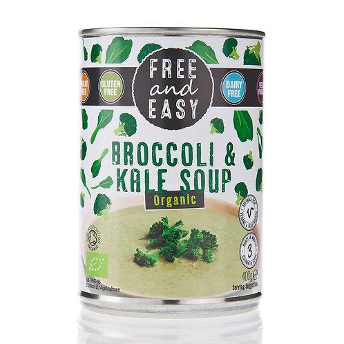 Free & Easy Organic Broccoli & Kale Soup
