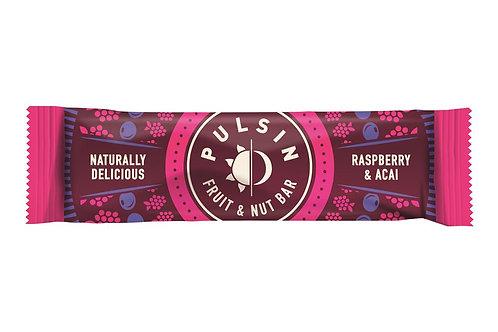 Pulsin Raspberry & Acai Fruit & Nut Bar