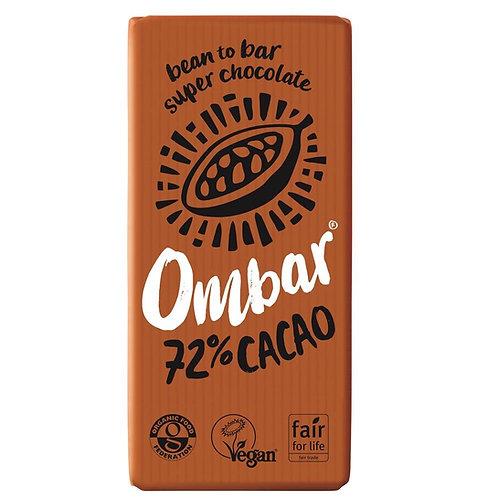 Ombar 72% Cacao 70g, organic and vegan