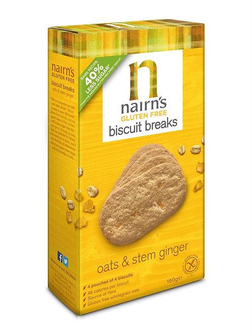 Gluten Free Biscuit Breaks Stem Ginger