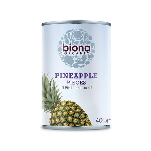 Organic Pineapple Pieces in Pineapple Juice