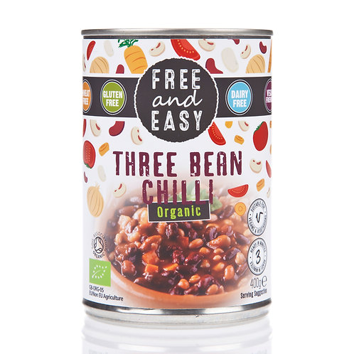 Organic Three Bean Chilli