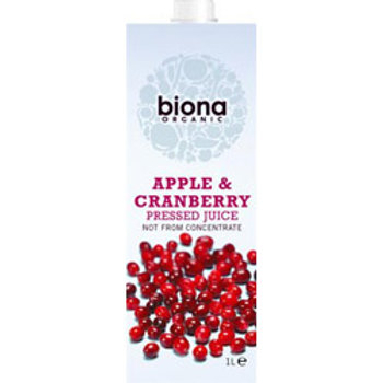 Apple & Cranberry Juice Organic(12% Cranberry)