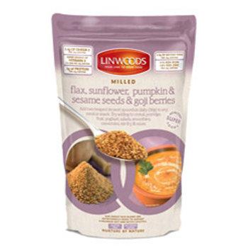 Organic Milled Flax, Sunf, Pump, Ses & Goji mix
