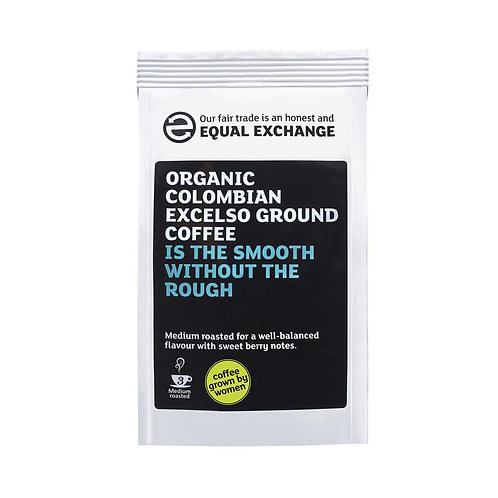 Fair trade & Organic Colombian Excelso Roast & Ground Coffee