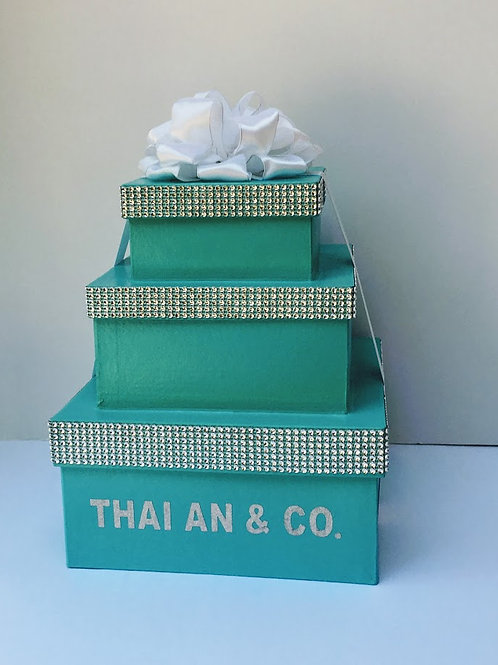 Aqua Blue Boxes Robin Egg Blue Gift Box Centerpiece Boxes Wedding Baby Shower