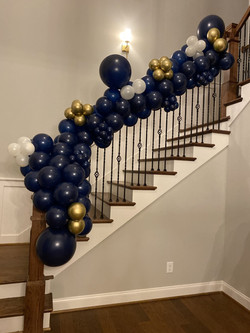 Balloon Garland Staircase