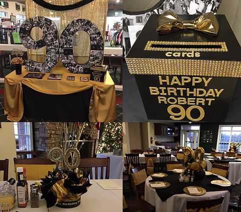 90th Birthday Party Decor