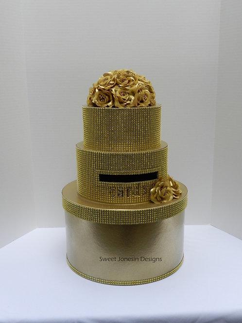 Wedding Card Box,Gold Wedding Card Box, Diamond Card Box,Reception Box,Envelope