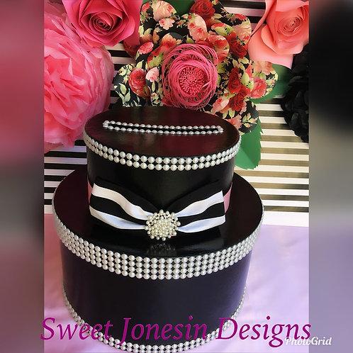 Black & White Wedding Card Box,Birthday Card Box,Paris Theme, Bridal Shower Card