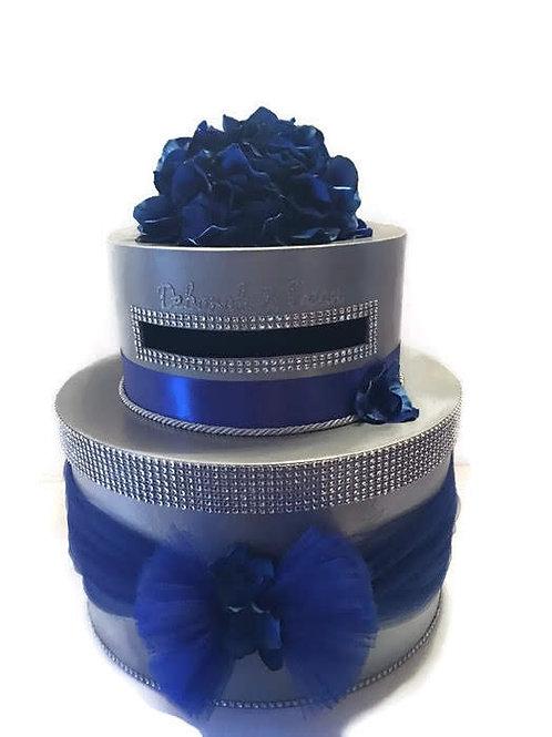 Royal Blue Wedding Card Box, Reception Card Box, Bling Card Box, Card Holder, We