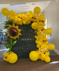 Sunflower Balloon Display
