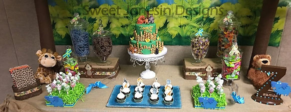 Jungle Book Theme Sweet Table