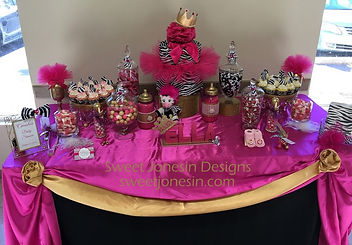 Zebra Theme Candy/Sweet Table