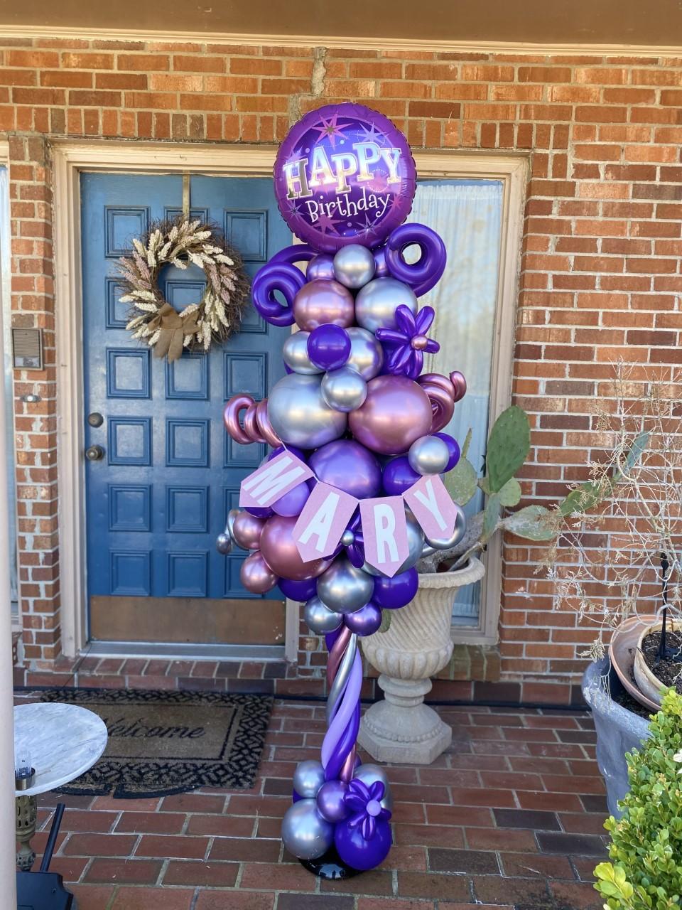 Purple Balloon Pole 2021