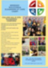 Yellow and Blue Preschool School Newslet
