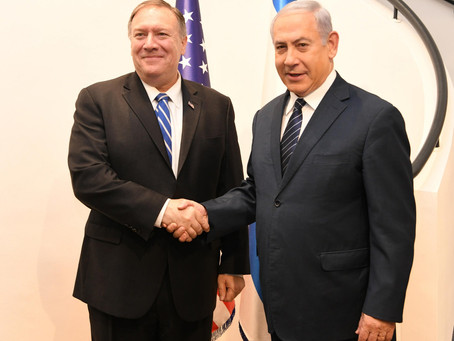 Israel PM and DM Netanyahu Meets with US Secretary of State Mike Pompeo