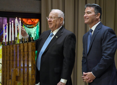 President Rivlin and the Head of the Mossad presented certificates of excellence –