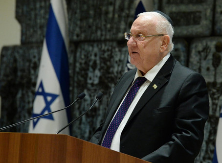 以色列總統魯文里夫林訪問英國提到恢復約旦河沿岸的基督教聖地的公開朝聖