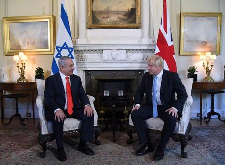 以色列總理內塔尼亞胡下午會見英國首相鮑里斯約翰遜