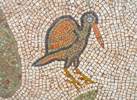 A magnificent 1500-year-old church, decorated with spectacular mosaic floors and Greek inscriptions,