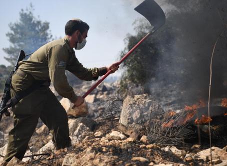 以色列多地发生莫名大火