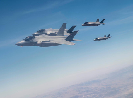 """Israeli Air Force & usairforce F-35 fighter jets completed the """"Enduring Lightning 2"""" exercise ov"""