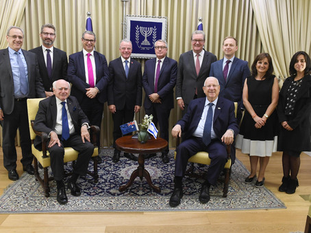 President Rivlin welcomed a delegation of leading Australian politicians to Beit HaNasi
