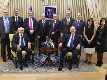 澳大利亞主要政治人物代表團訪問以色列,里夫林總統表示歡迎